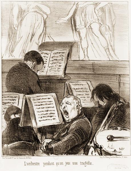 Planche n° 17 de la série des Croquis musicaux, publiée dans Le Charivari, le 5 avril 1852. copyright BnF, Estampes et Photographie, Rés. Dc-180b (46)-Fol. La BNF est partenaire de l'exposition « Spectaculaire Second Empire » au Musée d'Orsay
