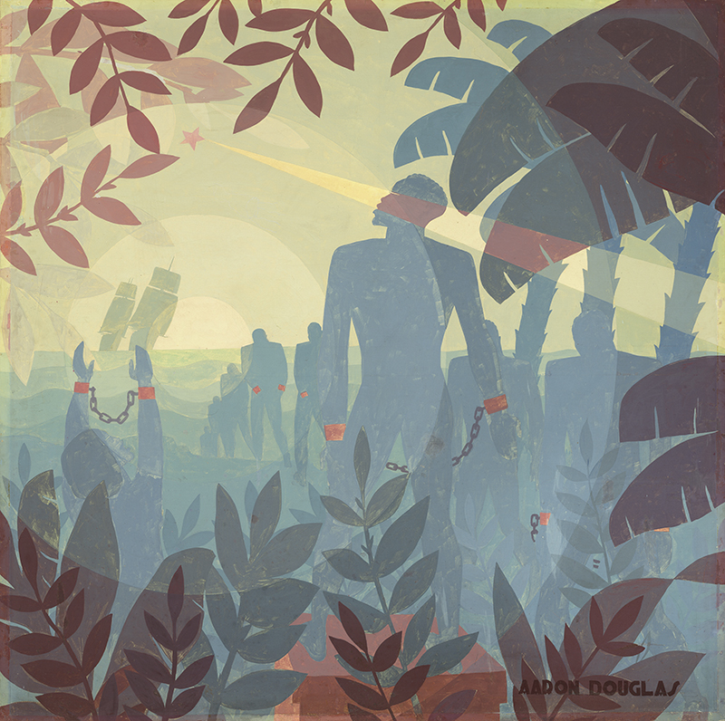 Aaron Douglas, Into Bondage, 1936, © Adagp, Paris, 2016, photographe : G-Williams