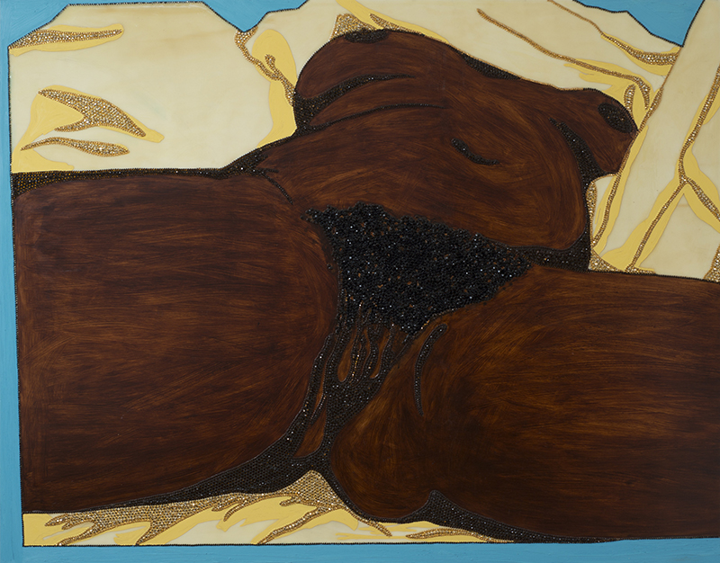 Mickalene Thomas, Origin of the Universe I, 2012, © Adagp, Paris, 2016
