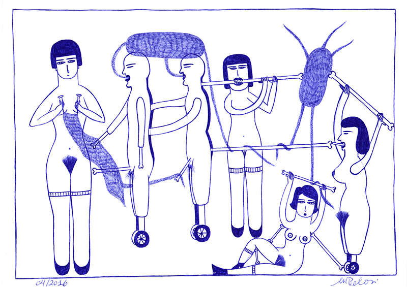 Sans titre, 2014. stylo à bille sur papier, 21 x 30 cm