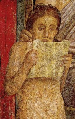 Jeune romaine passionnée par son volumen