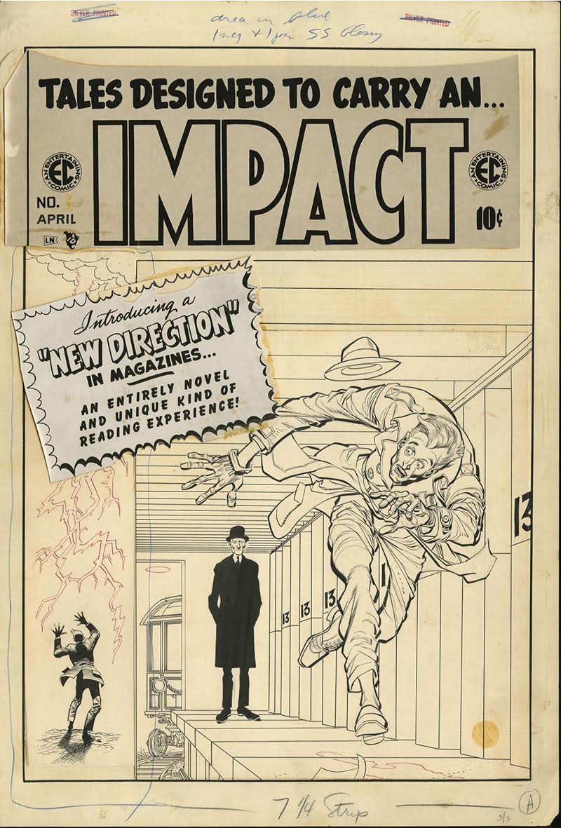 Impact n°1, mars 1955, couverture dessinée par Jack Davies. Collection de James Halperin, Heritage Auctions (HA.com), Courtesy of William M. Gaines Agent, Inc. All Rights Reserved.