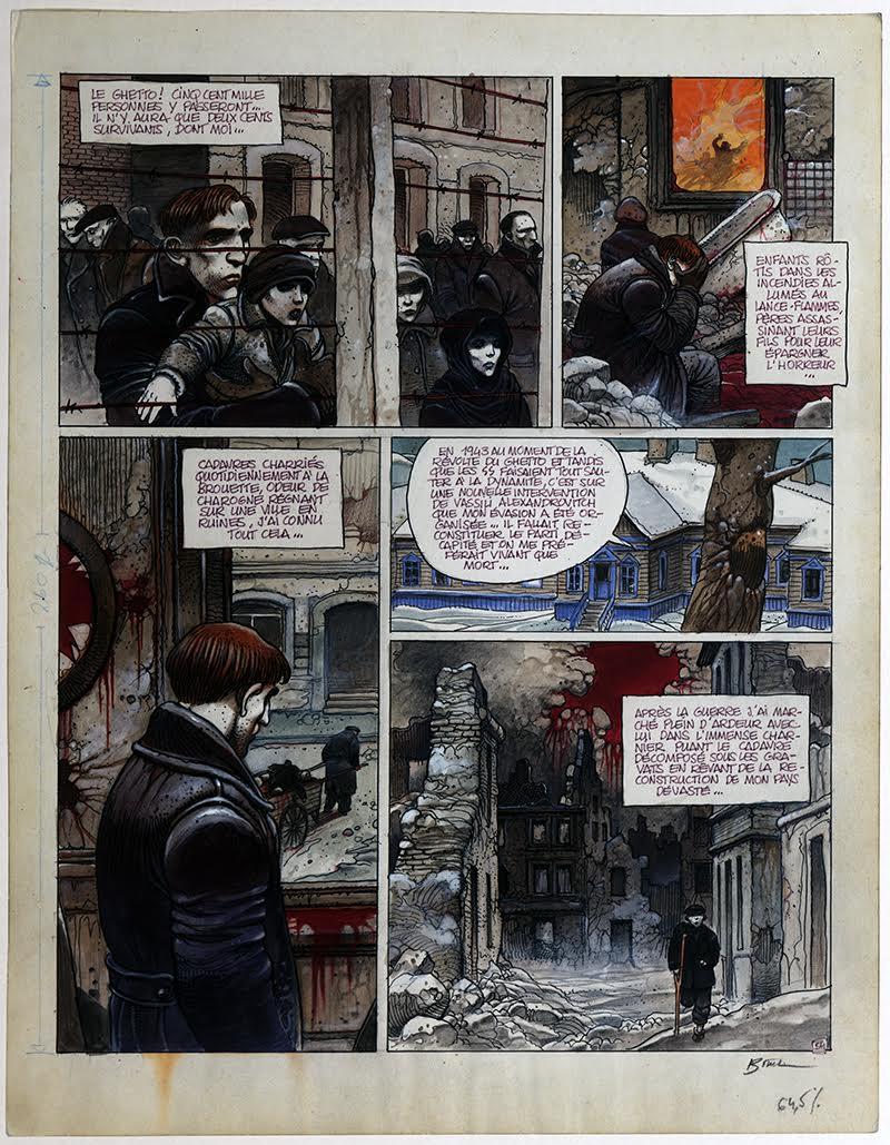 Partie de chasse, d'Enki Bilal (dessinateur) et Pierre Christin (scénariste), Dargaud, 1983, Collection particulière d'Enki Bilal, courtesy Casterman.