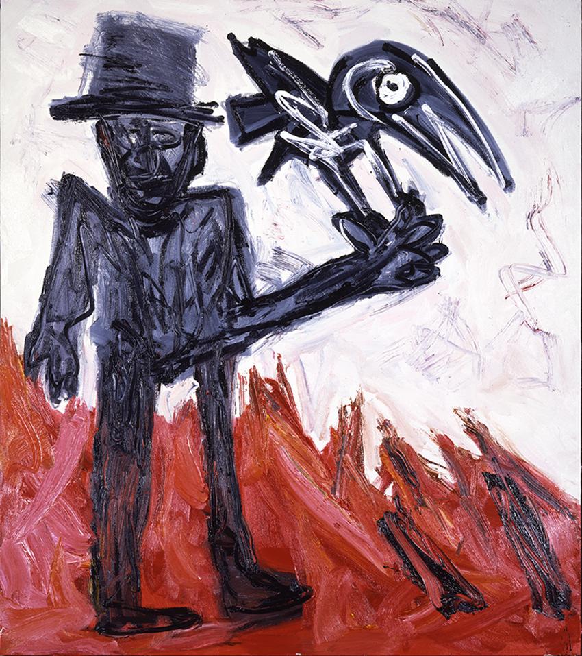 Karel Appel, Les Décapités (détail), 1982, Huile sur toile, 193  672 cm, Musée d'Art moderne de la Ville de Paris, © Karel Appel Foundation / ADAGP, Paris 2017